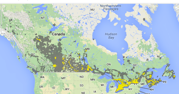 Cdma Canada Coverage Map Canadian Network Coverage – National Carriers | Canadian Spectrum