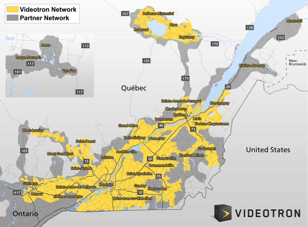 Videotron Coverage